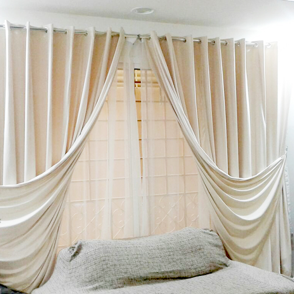 Off White Silk Curtain