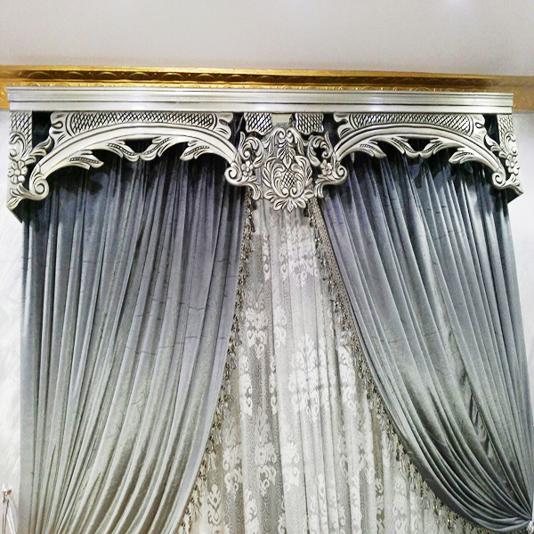 Silver-Gray Curtain
