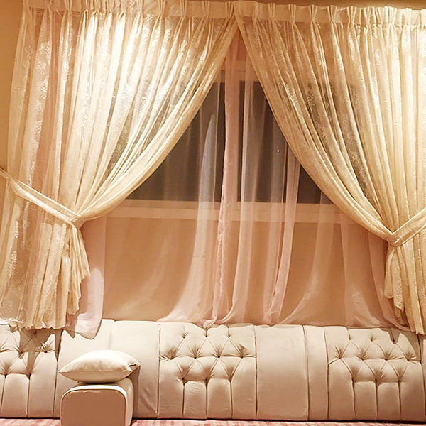 Light Peach Curtain