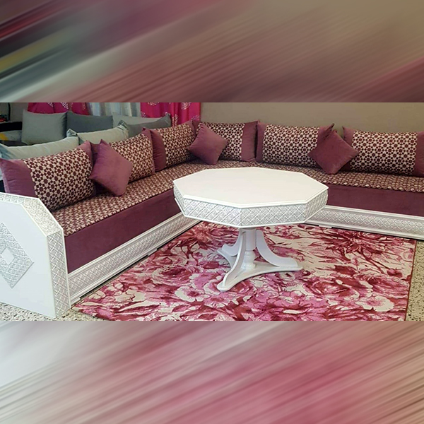 Sofa with White Table